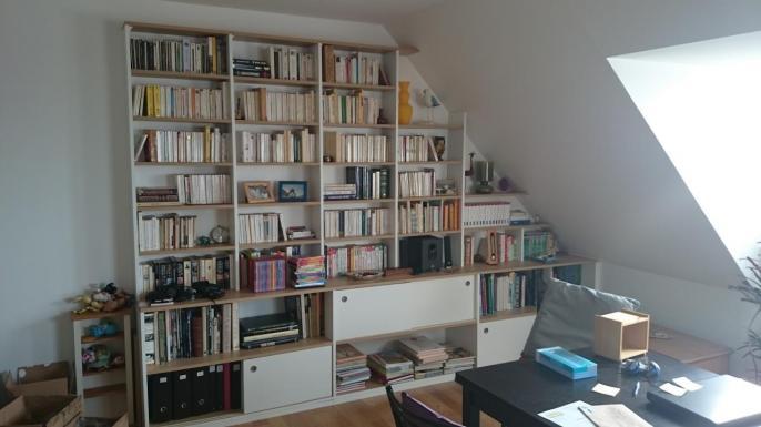 Biblioth que sous pente lagny Bibliotheque sous comble