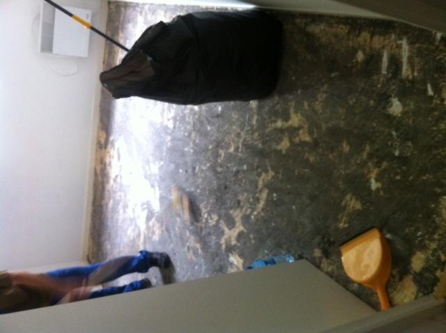 dépose de la mousse des moquettes au Scrapper