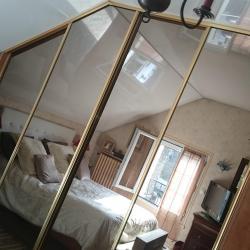 sous pente avec coulissante miroir bronze