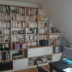bibliothèque sous pente, portes Roll 22